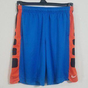 Nike Boys Medium Blue Orange Basketball Shorts